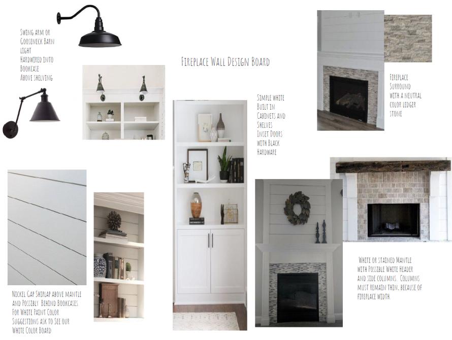 Fireplace Wall Design Board